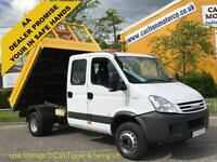 2007/ 57 Iveco Daily 65c18 Crew Cab Tipper 7-seat 6500kg GVW 3.0hpt