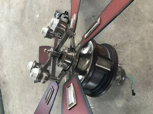 large electric ceiling fan with remote