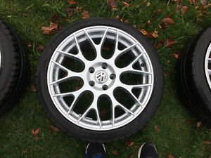 Set of 18 inch replica wheels and tires 5 x 112 fits most VW Oakville / Halton Region Toronto (GTA) image 3