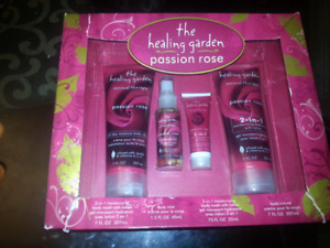 The healing garden passion rose gift set