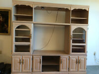 Wall unit and living room set