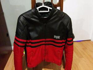 Fox Moto-X Full Leather Motorcycle Racing Jacket