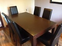 Solid wood dining table/chairs