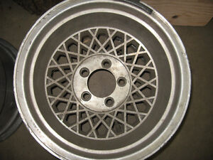 14X10 Aluminum Western wheels, 5X4.5, sell or trade London Ontario image 2