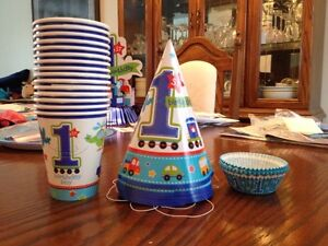 """Boys First Bday Party Decorations """" All Aboard Theme"""" Belleville Belleville Area image 2"""