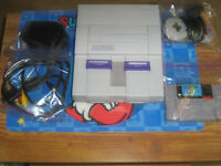 MINT Super Nintendo+Mario World/Cleaned/Tested/Old Skool Gamers