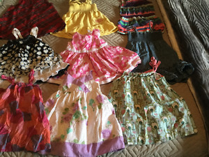 Lot of 9 beautiful name brand baby girl dresses (12-18 months )