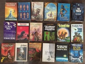 Science fiction and fantasy hard covers for sale