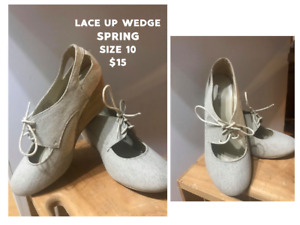 Spring Lace Up Wedge
