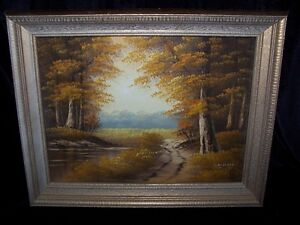 GORGEOUS FALL SCENE OIL PAINTING BY CANTRELL,LOVELY!