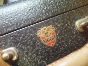 luggage 1950's - McBrine Baggage Vintage suitcase