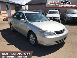 2002 Toyota Camry LE V6 AUTO LOW KMS!!  RUNS PERFECT!!!