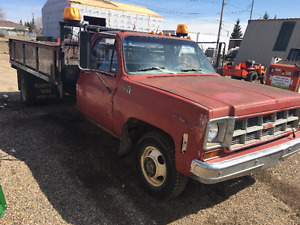 1977 Chev 3500 with Dump box