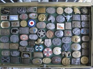 Belt Buckle Collection in 5 Cases $4870.00 obo.