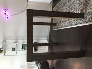Structube Hamburg acacia wood bar table (kitchen island)