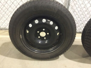 Winter Tires on Rims - Volkswagen Jetta - Like New