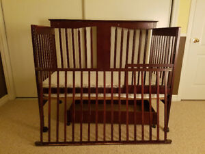 Baby crib-infant bed with mattress