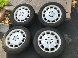Snow tires on Mercedes rims