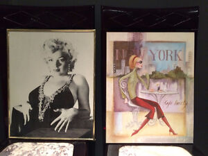 Marilyn Monroe & NYC Cafe & Motorcycle posters $$Reduced$$