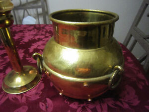 Brass Candle or brass bucket/ figurines /-STRATHROY London Ontario image 2