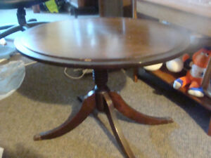 small antique accent table