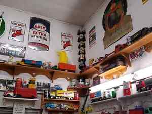Selling of collection of gas and oil memorabilia