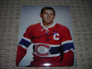 Maurice Richard SIGNED Montreal Canadiens 8x10 photo - AUTOGRAPH
