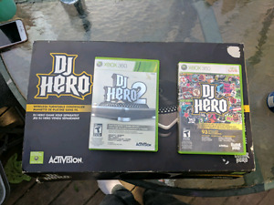 DJ Hero Turntable + DJ Hero +DJ Hero 2