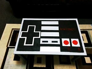 Handpainted NES Controller Coffee Table