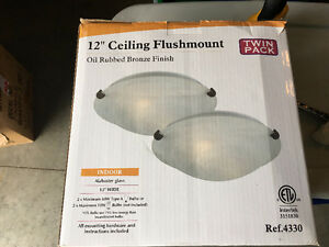 "12"" Flushmount Ceiling Lights"