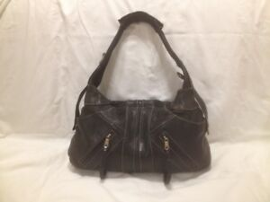 Danier Black Leather Medium  Size Hobo Hand Bag/Shoulder Bag