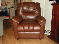 Leather lift chair.