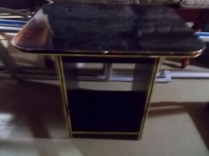 Black Charcoal Coloured End Table Coffee Table