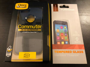 Commuter Otterbox Case Iphone 7 / 8 and Screen Protector