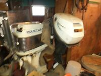 two outboards 50 merc and 9 johnson