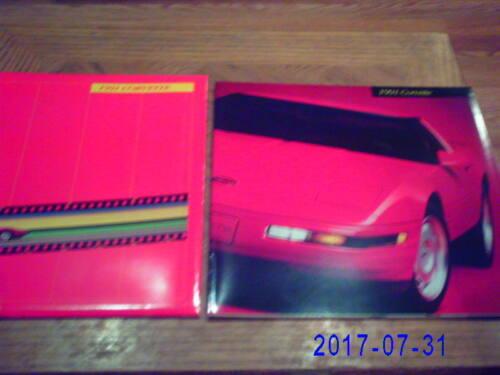 1991  Corvette   Sales  Brochure