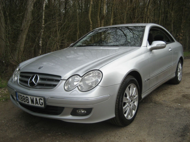 mercedes benz clk 220 2 2 diesel cdi elegance automatic coupe silver 109k fsh in stanway. Black Bedroom Furniture Sets. Home Design Ideas