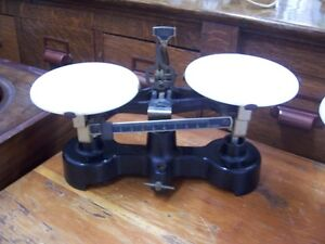 Antique scales with porcelain stands Kingston Kingston Area image 2