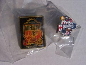 2- AMERICAN NFL BOWL rare SKYDOME Toronto Lape pins - new
