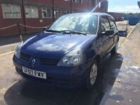 Bargain Renault Clio, full years MOT, low miles, cheap tax