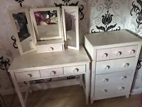 (Next) dressing table stool and drawers