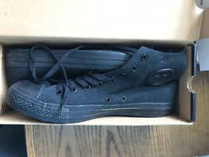 Brand New High Top Converse - Black - Mens Size 10.5