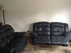 2 seater leather sofa recliner leather sofa 2x2 recliner going cheap