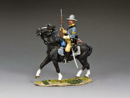 """King and Country CW110 """"Confederate Cav Cpl Holding Gun"""" 1/30 Metal Toy Soldier"""