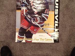 Mark Messier Wall Poster - New York Rangers - Louisville Sarnia Sarnia Area image 3