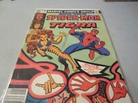 1983 Marvel Team-Up Spider-man with Tigra comic fine condition