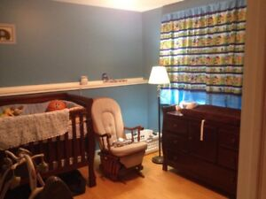 Crib with matching change table/dresser