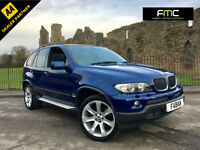 2006 BMW X5 3.0d auto Le Mans Blue Sport Edition **Black Leather Sat Nav TV**