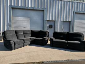 Grey LaZy boy corner sofa and 3 seater recliner sofas🚚🚚
