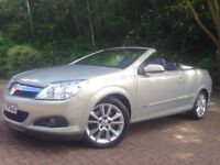 Vauxhall Astra 1.9 cdti Twin Top 2dr Convertible Low Miles Full Black Leather Interior